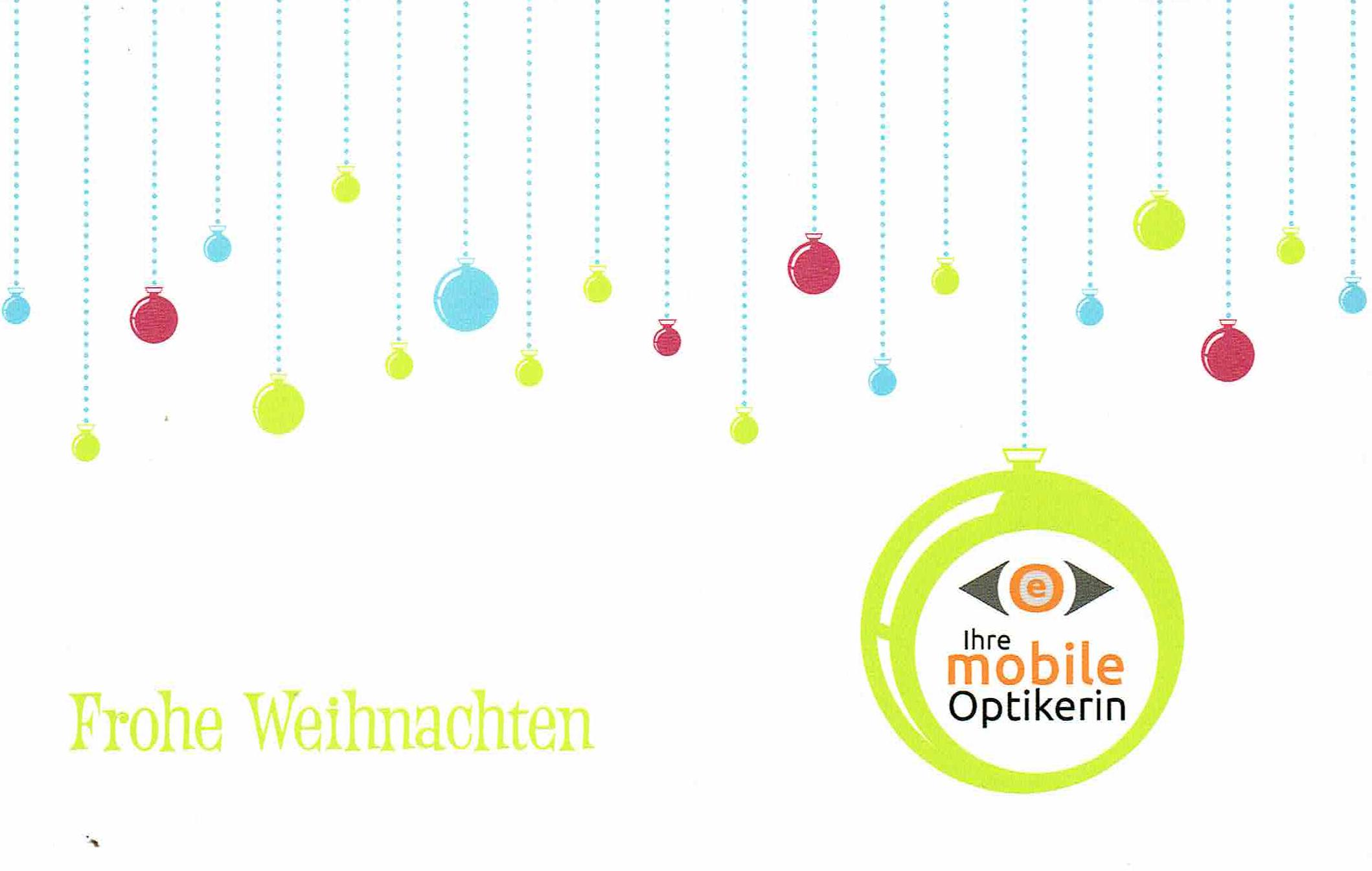 Optik Edelmann wünscht Frohe Weihnachten 2014